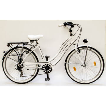 Csepel Cruiser kerékpár, 7 sebesség - Fehér