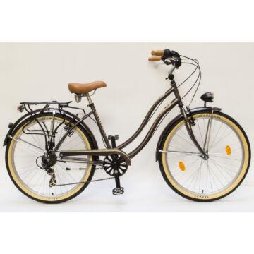 Csepel Cruiser kerékpár, 7 sebesség - Barna