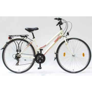 """Csepel Landrider 28"""" női kerékpár - KrémFehér"""