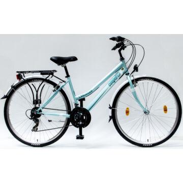 """Csepel Landrider 28"""" női kerékpár - Zöldes Kék"""