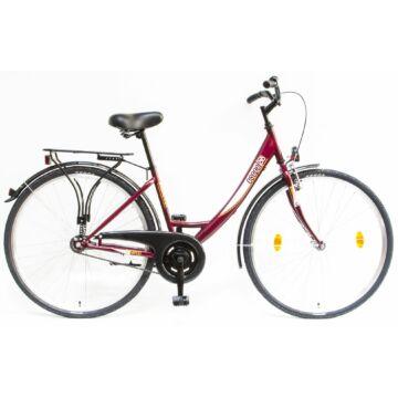 """Csepel Budapest A 28"""" felnőtt kerékpár - Bordó 2020 ÚJ SZÍN"""