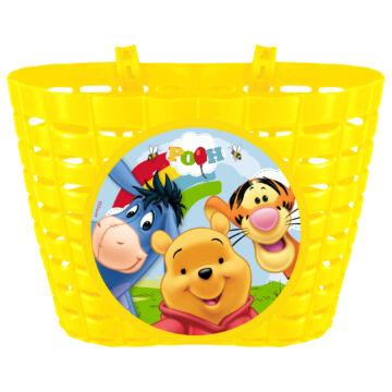 Gyermek kosár műanyag - Micimackós sárga