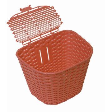 Műanyag Rattan hatású első kosár - Barna