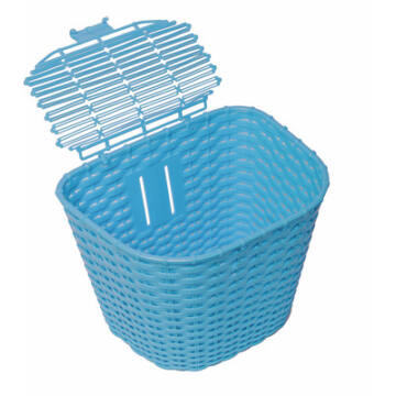 Műanyag Rattan hatású első kosár - Kék