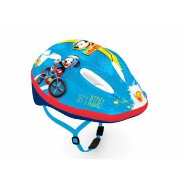 Kerékpáros gyermek fejvédő - Disney figurákkal kék színben