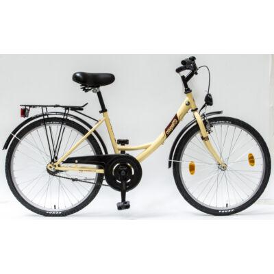 """Csepel Budapest 24"""" Gyermek kerékpár - Krém"""