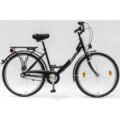 """Csepel Budapest A 26"""" felnőtt kerékpár, 3 seb. agyváltó - Fekete"""