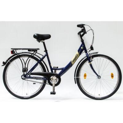 """Csepel Budapest A 26"""" felnőtt kerékpár, 3 seb. agyváltó - Kék"""
