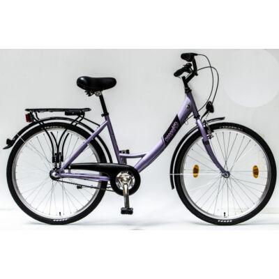 """Csepel Budapest A 26"""" felnőtt kerékpár, 3 seb. agyváltó - Lila"""