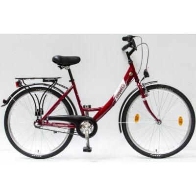 """Csepel Budapest A 26"""" felnőtt kerékpár, 3 seb. agyváltó - Piros"""