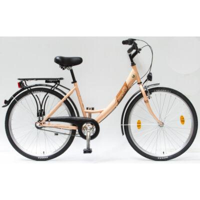 """Csepel Budapest A 26"""" felnőtt kerékpár, 3 seb. agyváltó - Púder"""