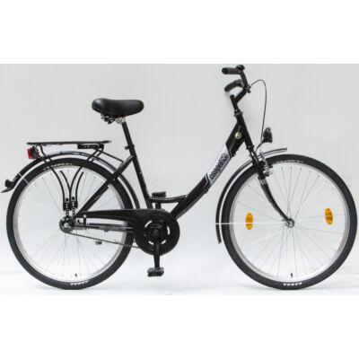 """Csepel Budapest A 26"""" felnőtt kerékpár - Fekete"""