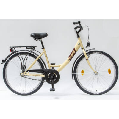 """Csepel Budapest A 26"""" felnőtt kerékpár - Krém"""