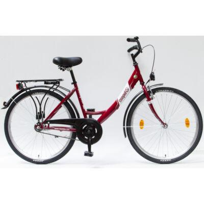 """Csepel Budapest A 26"""" felnőtt kerékpár - Piros"""