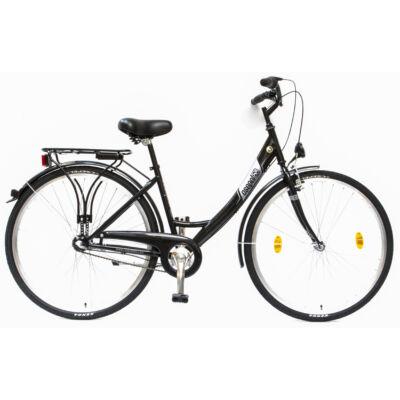 """Csepel Budapest A 28"""" felnőtt kerékpár, 3 seb. agyváltó - Fekete"""