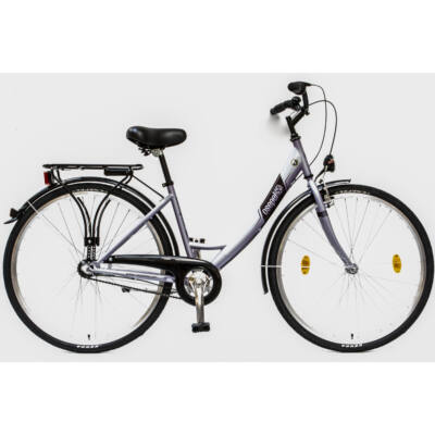 """Csepel Budapest A 28"""" felnőtt kerékpár, 3 seb. agyváltó - Lila"""