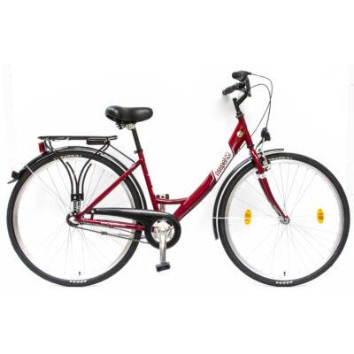 """Csepel Budapest A 28"""" felnőtt kerékpár, 3 seb. agyváltó - Piros"""