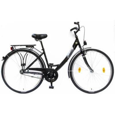 """Csepel Budapest A 28"""" felnőtt kerékpár - Fekete"""