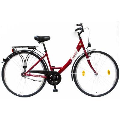 """Csepel Budapest A 28"""" felnőtt kerékpár - Piros"""