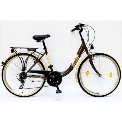 """Csepel Budapest B 26"""" felnőtt kerékpár, 7 sebesség - Barna"""