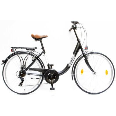 """Csepel Budapest B 26"""" felnőtt kerékpár, 7 sebesség - Matt Fekete"""