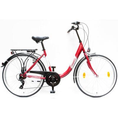 """Csepel Budapest B 26"""" felnőtt kerékpár, 7 sebesség - Matt Piros"""