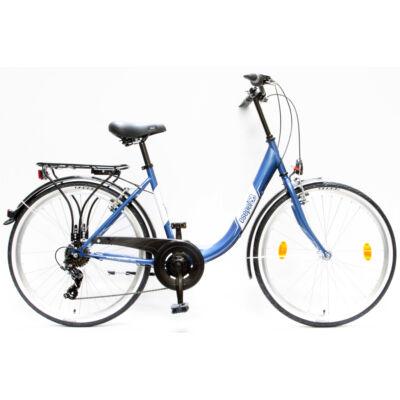 """Csepel Budapest B 26"""" felnőtt kerékpár, 7 sebesség - Sötétkék"""