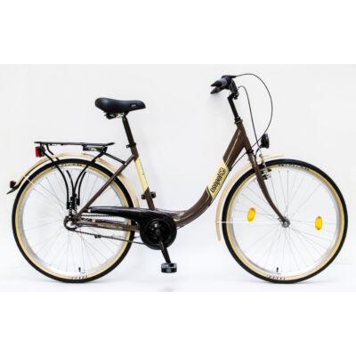"""Csepel Budapest B 26"""" felnőtt kerékpár, 3 seb. agyváltó - Barna"""