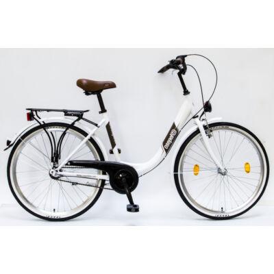 """Csepel Budapest B 26"""" felnőtt kerékpár, 3 seb. agyváltó - Fehér"""