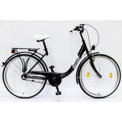 """Csepel Budapest B 26"""" felnőtt kerékpár, 3 seb. agyváltó - Fekete"""