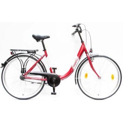 """Csepel Budapest B 26"""" felnőtt kerékpár, 3 seb. agyváltó - Matt Piros"""