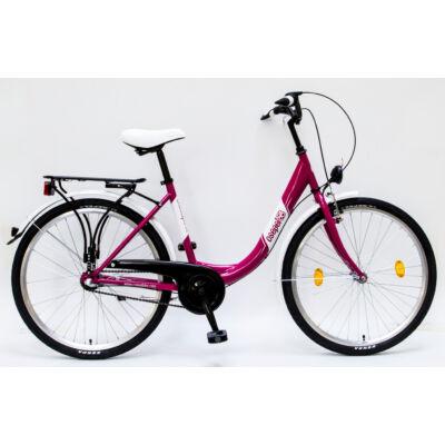 """Csepel Budapest B 26"""" felnőtt kerékpár, 3 seb. agyváltó - Rózsaszín"""