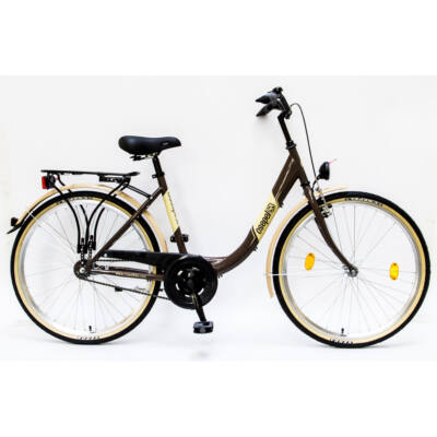 """Csepel Budapest B 26"""" felnőtt kerékpár - Barna"""