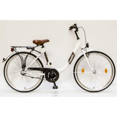 """Csepel Budapest B 26"""" felnőtt kerékpár - Fehér"""