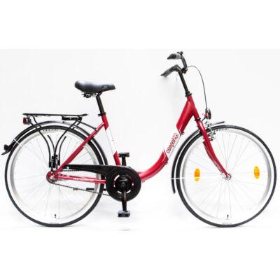 """Csepel Budapest B 26"""" felnőtt kerékpár - Matt Piros"""