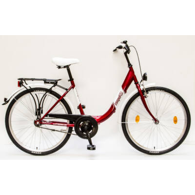 """Csepel Budapest B 26"""" felnőtt kerékpár - Piros"""