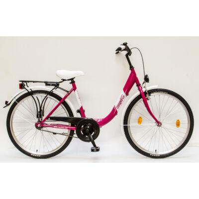 """Csepel Budapest B 26"""" felnőtt kerékpár - Rózsaszín"""