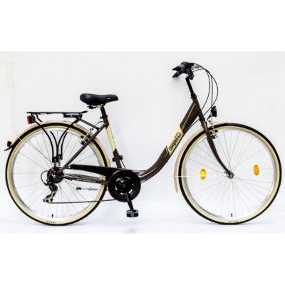 """Csepel Budapest B 28"""" felnőtt kerékpár, 7 sebesség - Barna"""