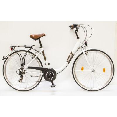 """Csepel Budapest B 28"""" felnőtt kerékpár, 7 sebesség - Fehér"""