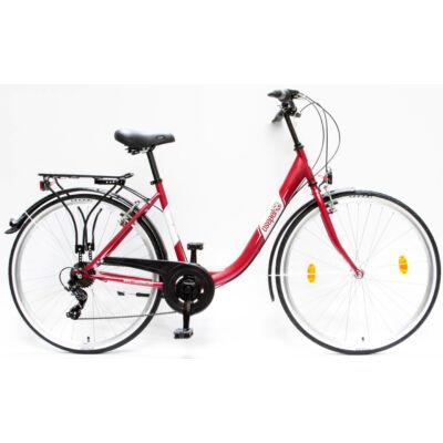 """Csepel Budapest B 28"""" felnőtt kerékpár, 7 sebesség - Matt Piros"""