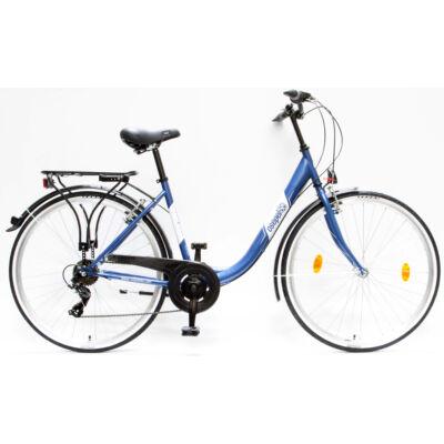 """Csepel Budapest B 28"""" felnőtt kerékpár, 7 sebesség - Sötétkék"""