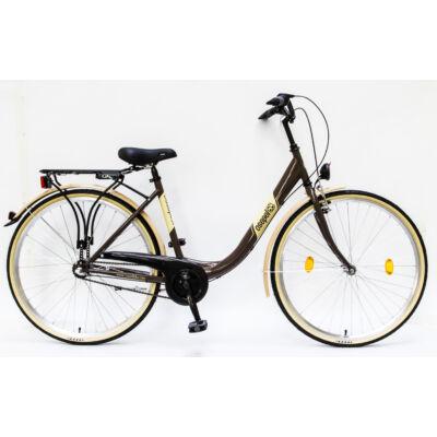 """Csepel Budapest B 28"""" felnőtt kerékpár, 3 seb. agyváltó - Barna"""
