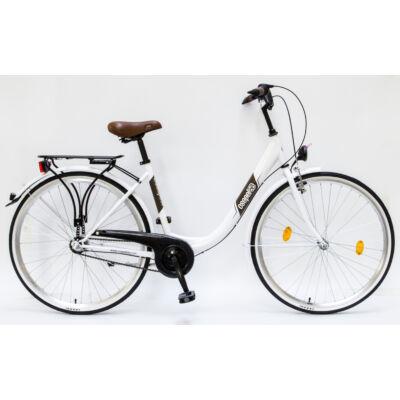 """Csepel Budapest B 28"""" felnőtt kerékpár, 3 seb. agyváltó - Fehér"""