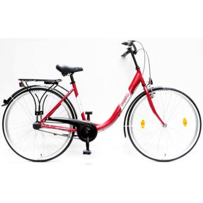 """Csepel Budapest B 28"""" felnőtt kerékpár, 3 seb. agyváltó - Matt Piros"""