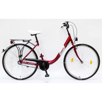 """Csepel Budapest B 28"""" felnőtt kerékpár, 3 seb. agyváltó - Piros"""
