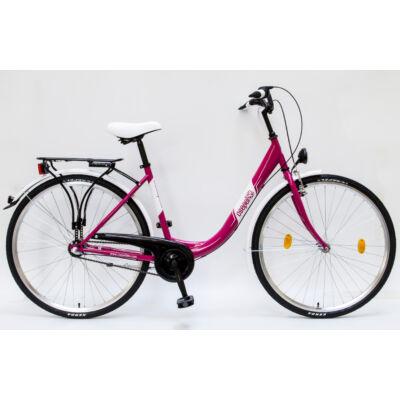 """Csepel Budapest B 28"""" felnőtt kerékpár, 3 seb. agyváltó - Rózsaszín"""