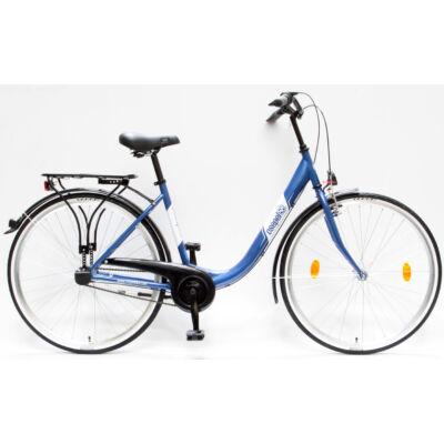 """Csepel Budapest B 28"""" felnőtt kerékpár, 3 seb. agyváltó - Sötétkék"""