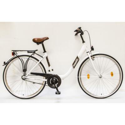"""Csepel Budapest B 28"""" felnőtt kerékpár - Fehér"""