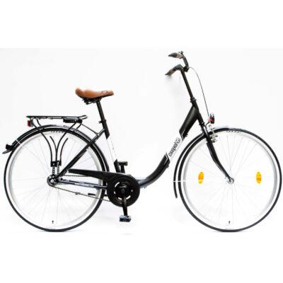 """Csepel Budapest B 28"""" felnőtt kerékpár - Matt fekete"""