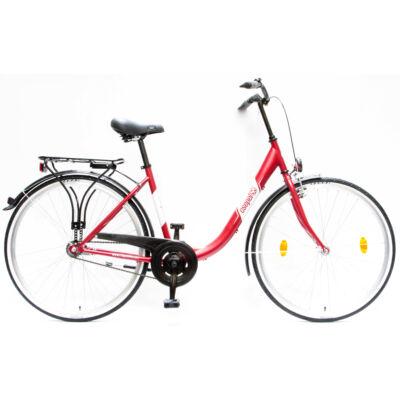 """Csepel Budapest B 28"""" felnőtt kerékpár - Matt Piros"""